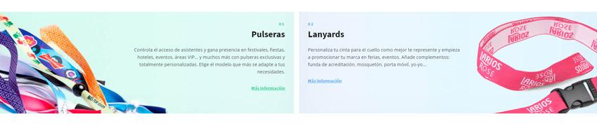 Pulseras personalizadas o Lanyards personalizados